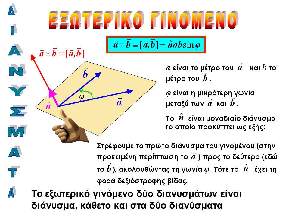 ΕΞΩΤΕΡΙΚΟ ΓΙΝΟΜΕΝΟ ΔΙΑΝΥΣΜΑΤΑ φ