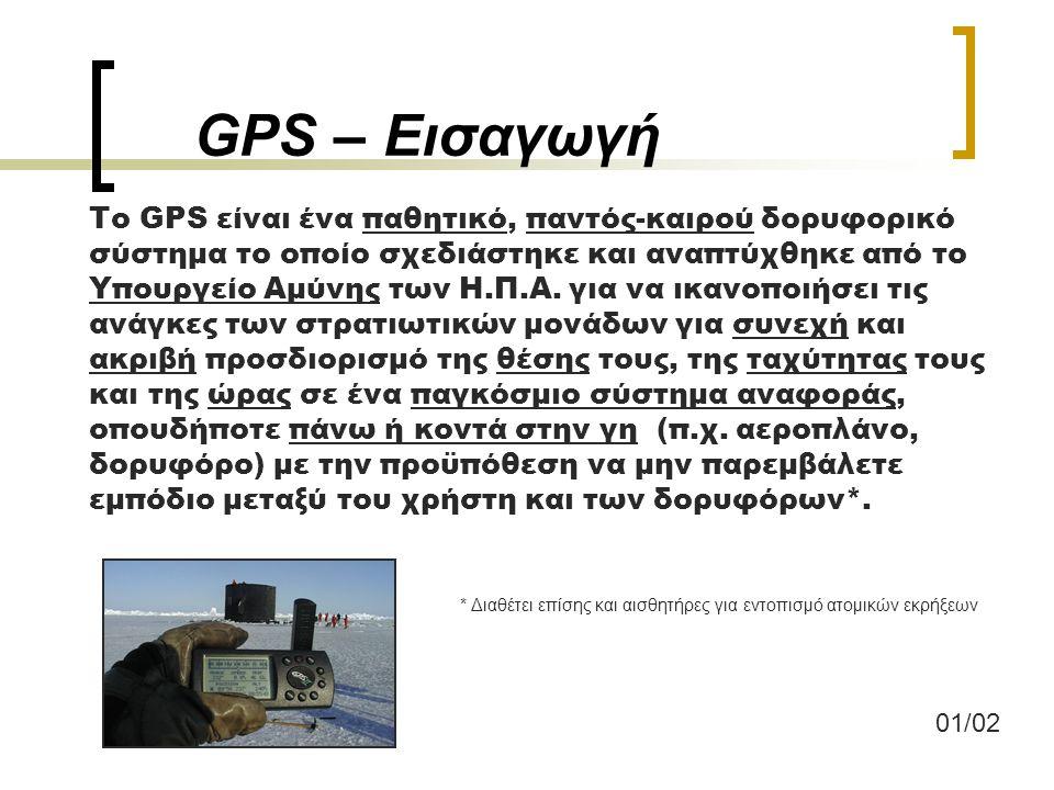 GPS – Εισαγωγή