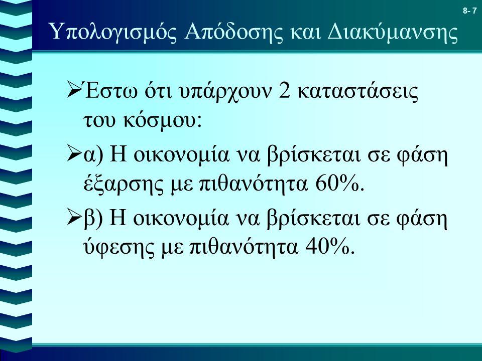 Υπολογισμός Απόδοσης και Διακύμανσης
