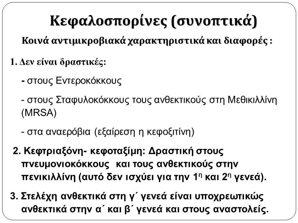 Κεφαλοσπορίνες (συνοπτικά)