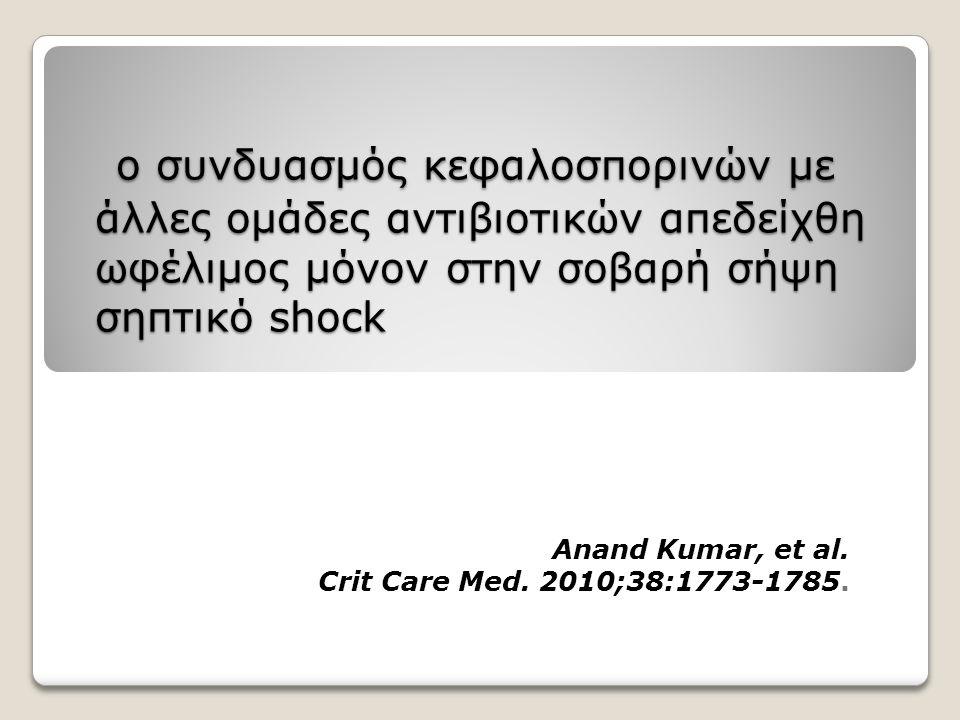 Anand Kumar, et al. Crit Care Med. 2010;38:1773-1785.