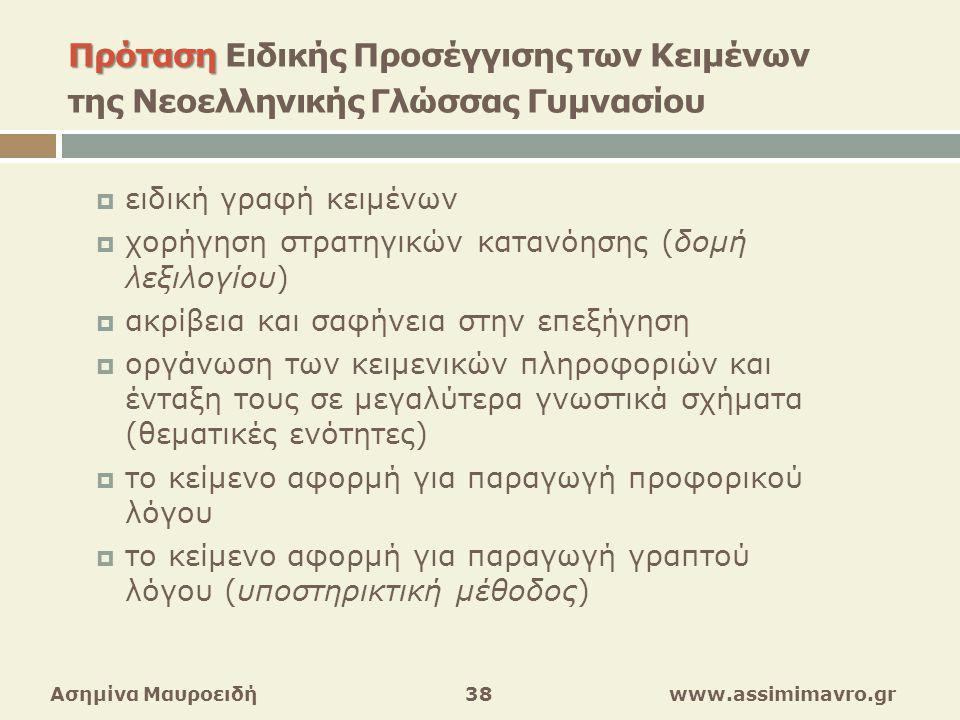 χορήγηση στρατηγικών κατανόησης (δομή λεξιλογίου)
