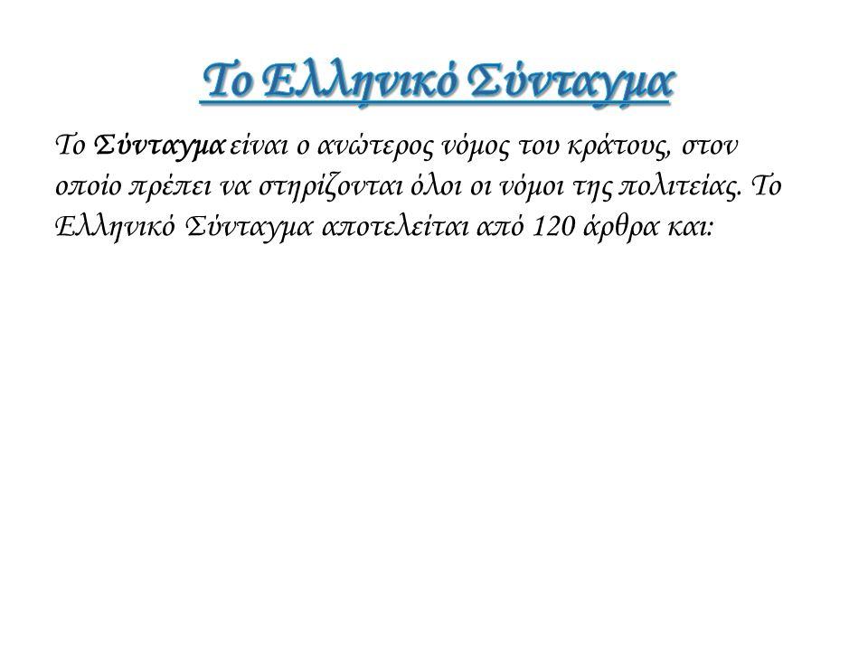 Το Ελληνικό Σύνταγμα