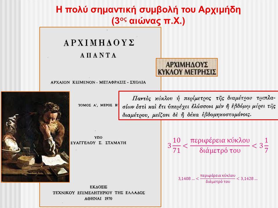 Η πολύ σημαντική συμβολή του Αρχιμήδη
