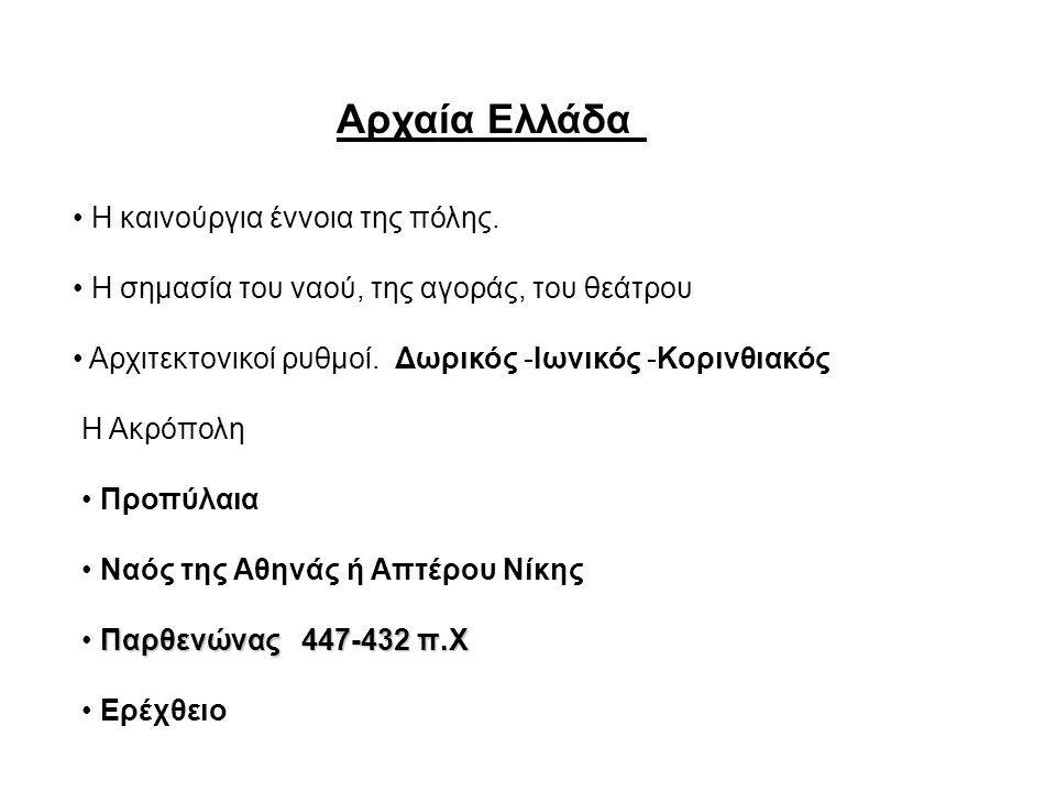 Αρχαία Ελλάδα • Η καινούργια έννοια της πόλης.