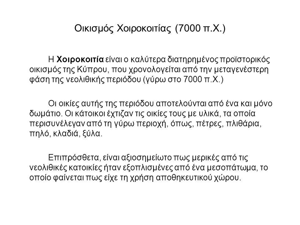 Οικισμός Χοιροκοιτίας (7000 π.X.)