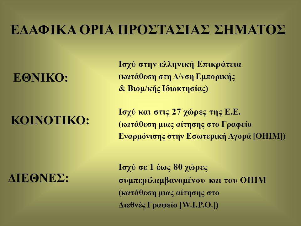ΕΔΑΦΙΚΑ ΟΡΙΑ ΠΡΟΣΤΑΣΙΑΣ ΣΗΜΑΤΟΣ