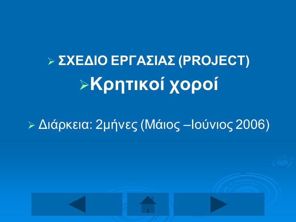 ΣΧΕΔΙΟ ΕΡΓΑΣΙΑΣ (PROJECT)