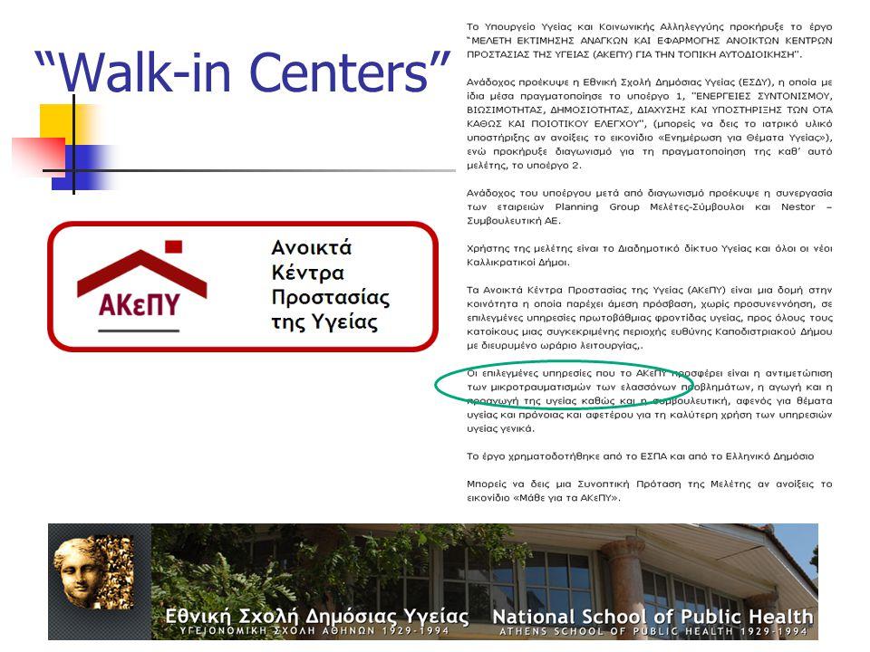Walk-in Centers