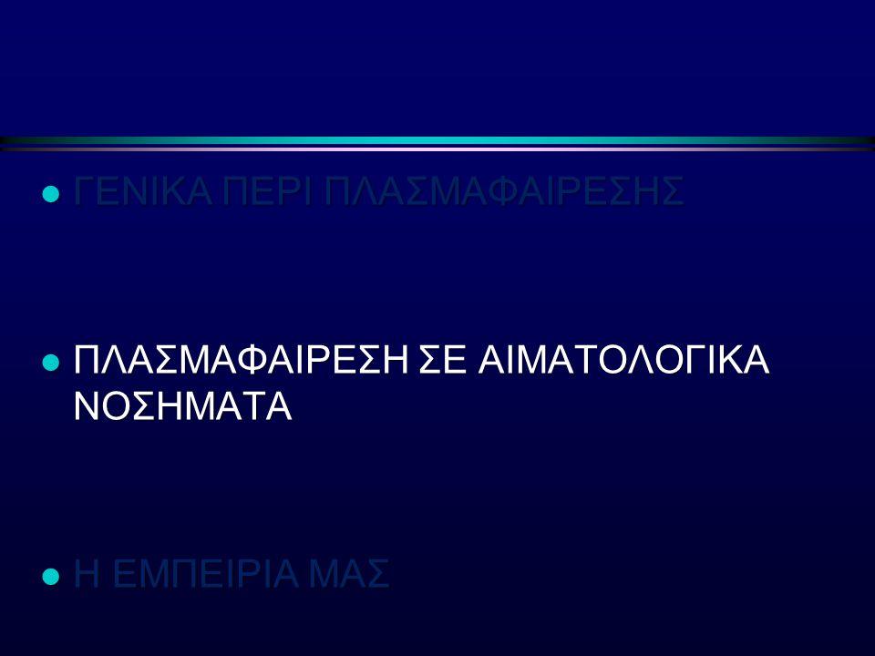 ΓΕΝΙΚΑ ΠΕΡΙ ΠΛΑΣΜΑΦΑΙΡΕΣΗΣ