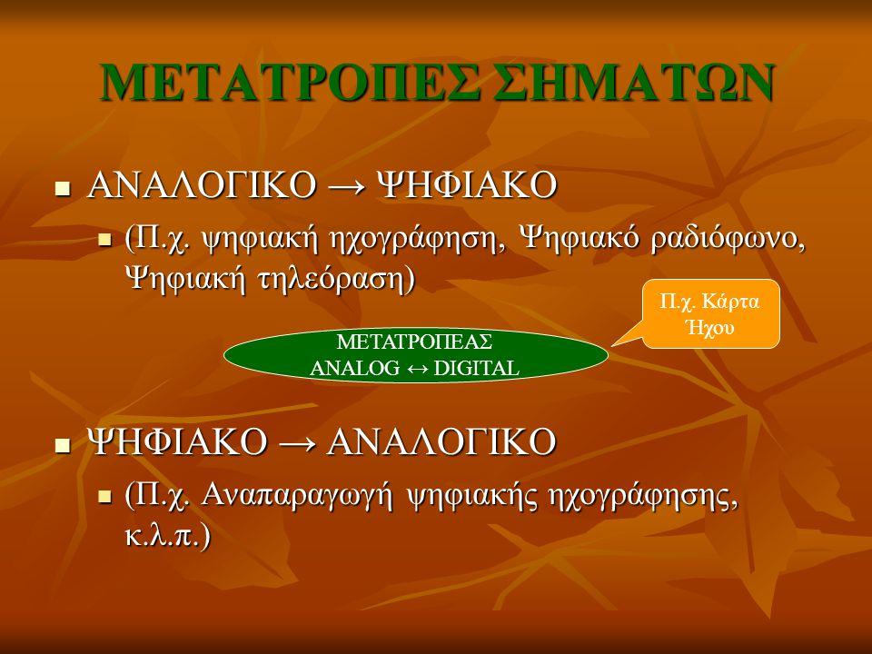 ΜΕΤΑΤΡΟΠΕΑΣ ANALOG ↔ DIGITAL