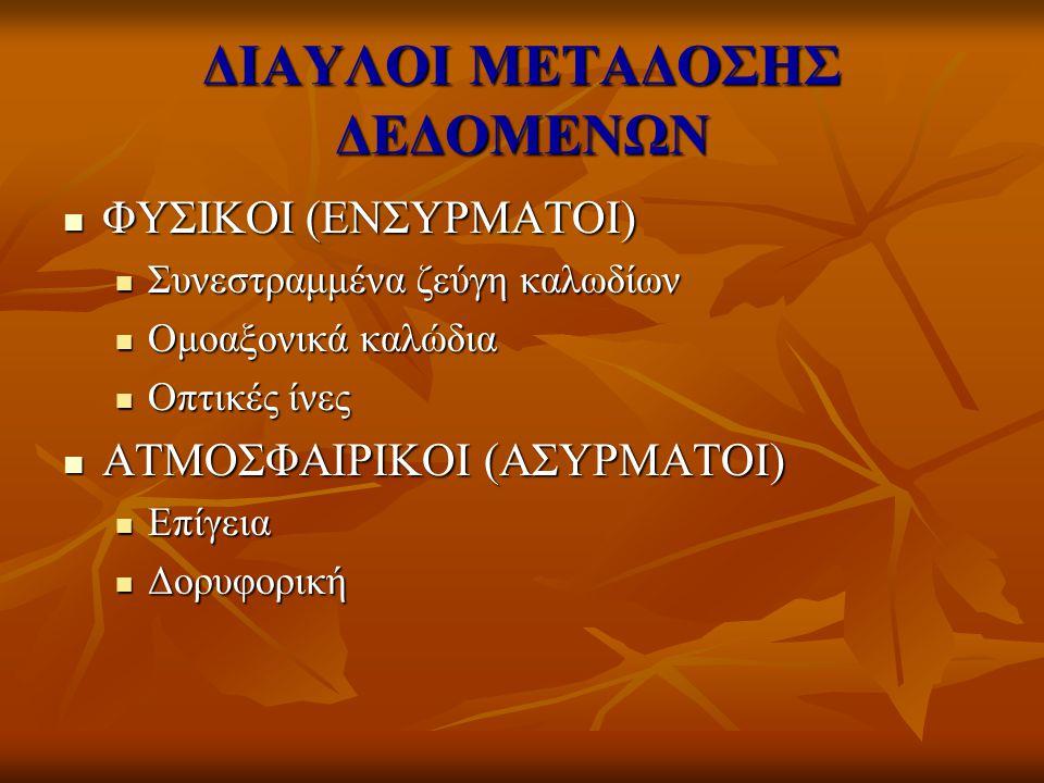 ΔΙΑΥΛΟΙ ΜΕΤΑΔΟΣΗΣ ΔΕΔΟΜΕΝΩΝ