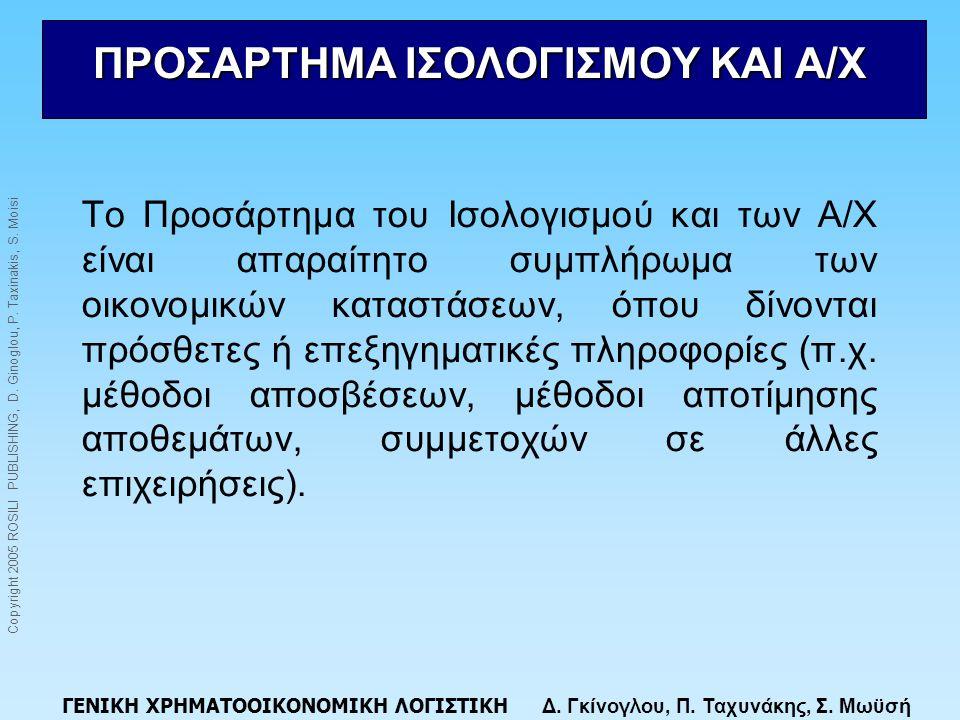 ΠΡΟΣΑΡΤΗΜΑ ΙΣΟΛΟΓΙΣΜΟΥ ΚΑΙ Α/Χ