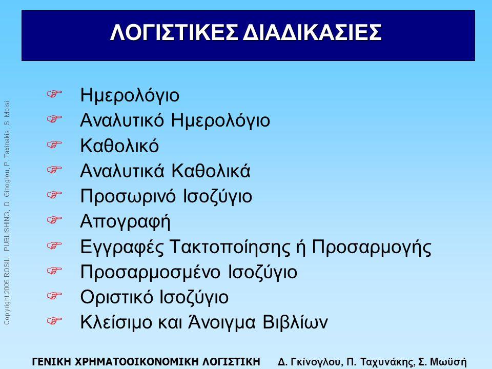 ΛΟΓΙΣΤΙΚΕΣ ΔΙΑΔΙΚΑΣΙΕΣ