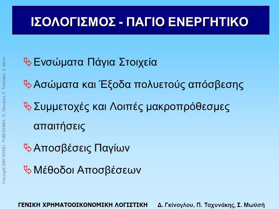 ΙΣΟΛΟΓΙΣΜΟΣ - ΠΑΓΙΟ ΕΝΕΡΓΗΤΙΚΟ