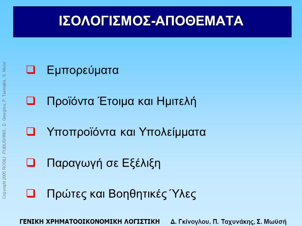 ΙΣΟΛΟΓΙΣΜΟΣ-ΑΠΟΘΕΜΑΤΑ