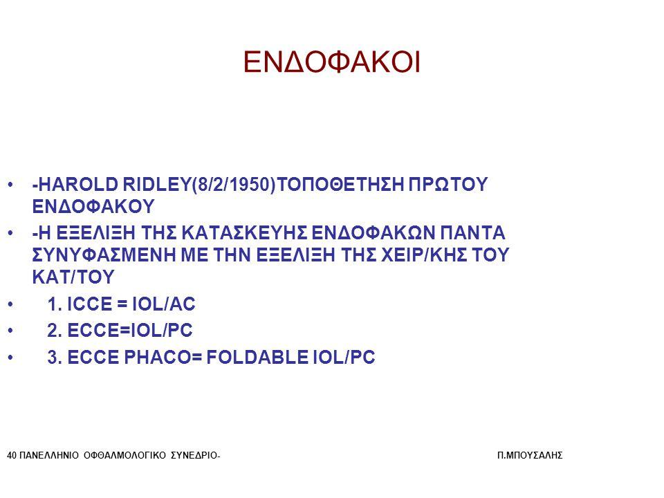 ΕΝΔΟΦΑΚΟΙ -HAROLD RIDLEY(8/2/1950)ΤΟΠΟΘΕΤΗΣΗ ΠΡΩΤΟΥ ΕΝΔΟΦΑΚΟΥ