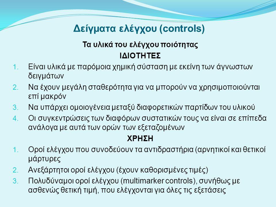 Δείγματα ελέγχου (controls)