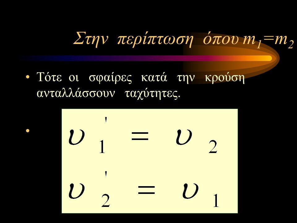 Στην περίπτωση όπου m1=m2