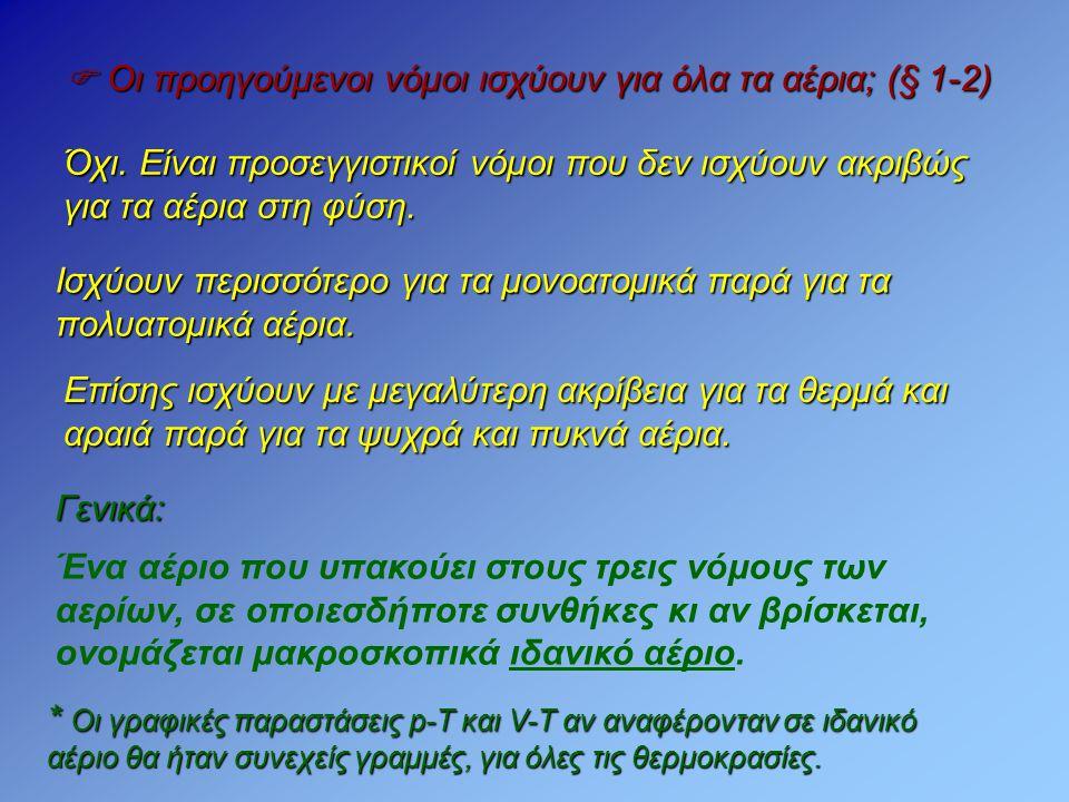  Οι προηγούμενοι νόμοι ισχύουν για όλα τα αέρια; (§ 1-2)