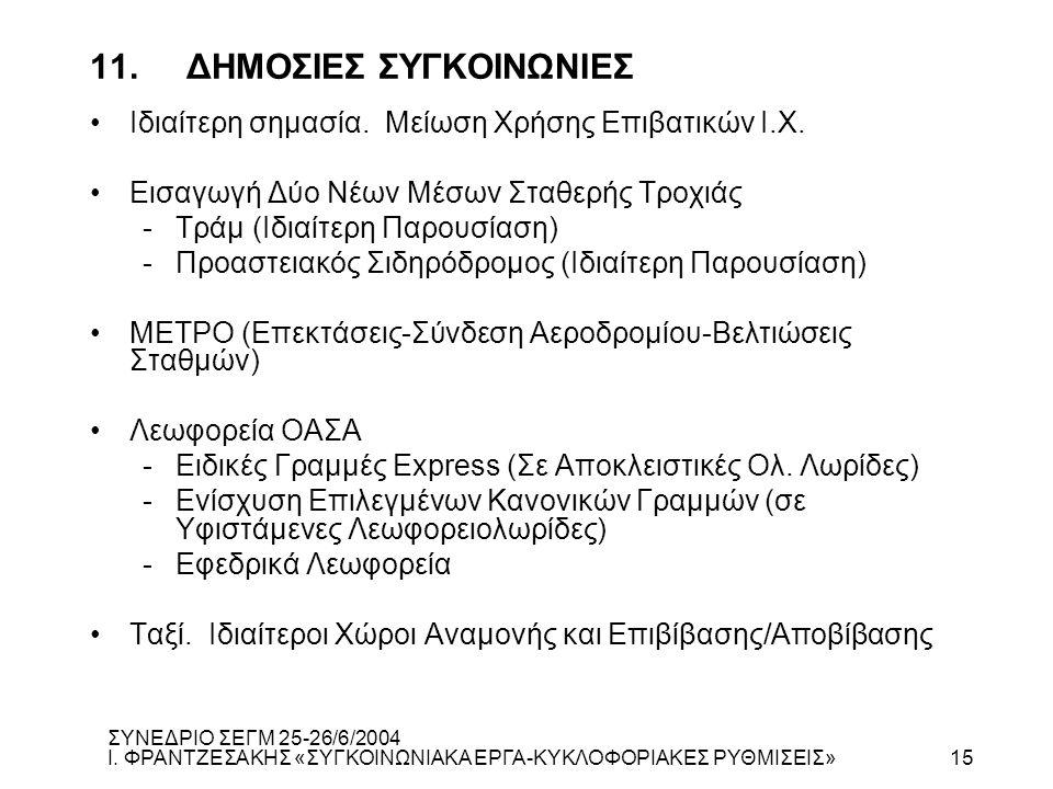 11. ΔΗΜΟΣΙΕΣ ΣΥΓΚΟΙΝΩΝΙΕΣ