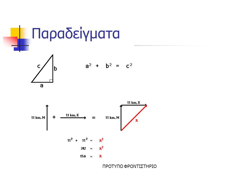 Παραδείγματα ΠΡΟΤΥΠΟ ΦΡΟΝΤΙΣΤΗΡΙΟ