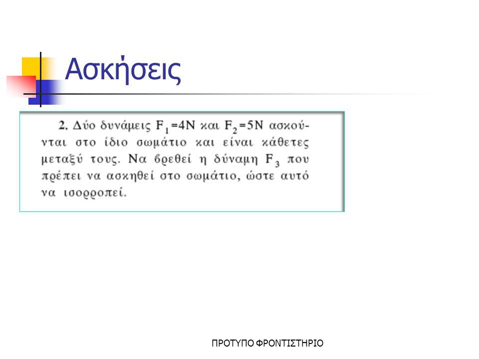 Ασκήσεις ΠΡΟΤΥΠΟ ΦΡΟΝΤΙΣΤΗΡΙΟ