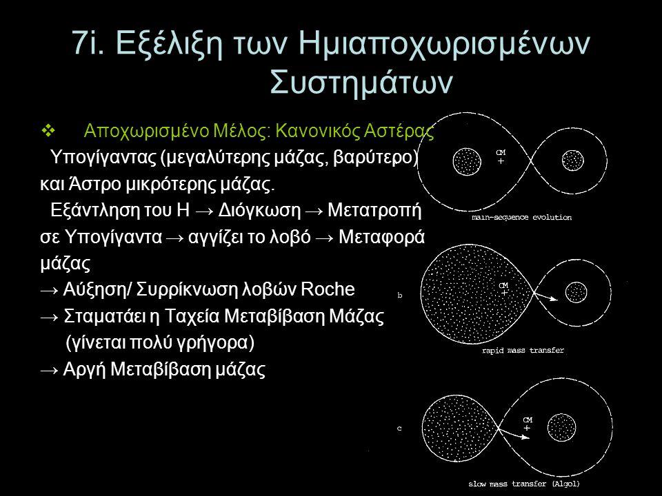 7i. Εξέλιξη των Ημιαποχωρισμένων Συστημάτων