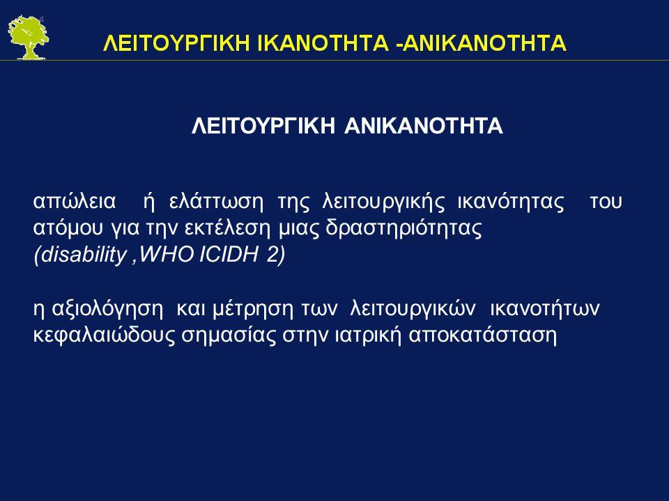 ΛΕΙΤΟΥΡΓΙΚΗ ΑΝΙΚΑΝΟΤΗΤΑ