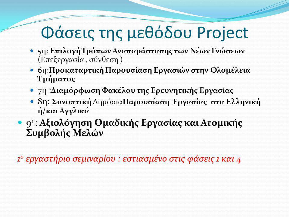 Φάσεις της μεθόδου Project