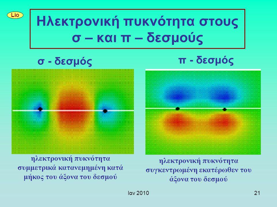 Ηλεκτρονική πυκνότητα στους σ – και π – δεσμούς