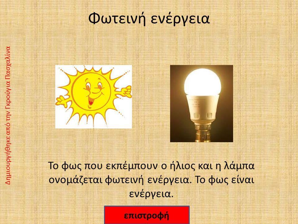 Φωτεινή ενέργεια Δημιουργήθηκε από την Γκρούγια Πασχαλίνα.