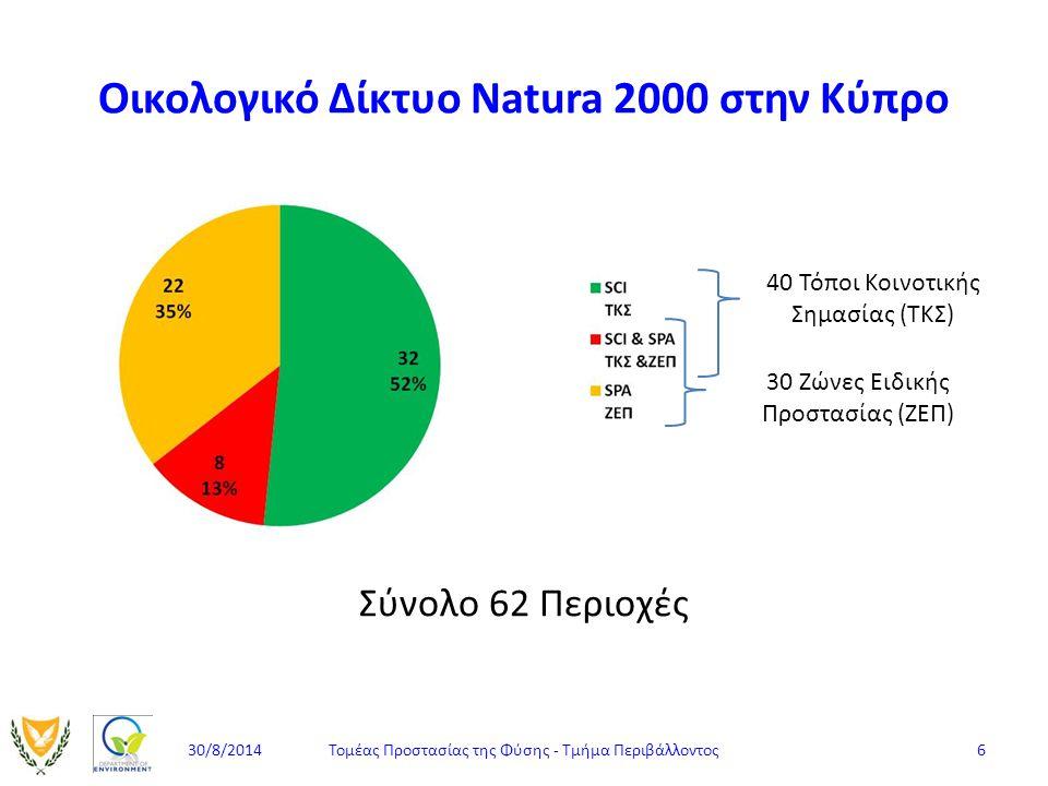 Οικολογικό Δίκτυο Natura 2000 στην Κύπρο