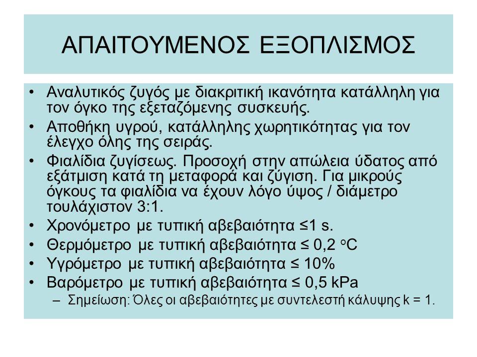 ΑΠΑΙΤΟΥΜΕΝΟΣ ΕΞΟΠΛΙΣΜΟΣ