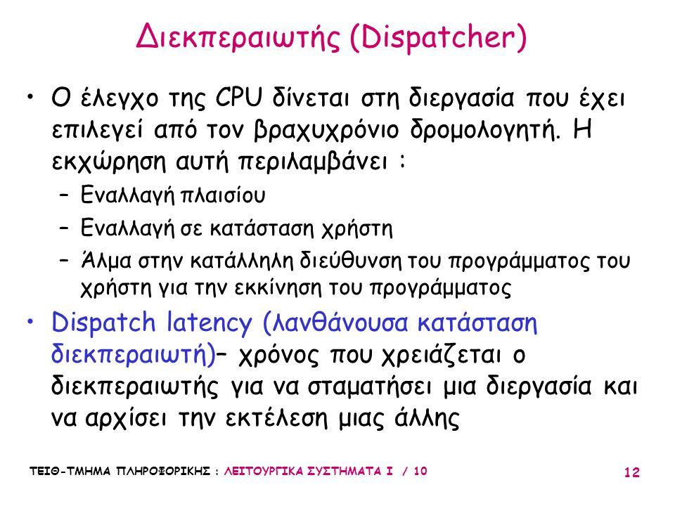 Διεκπεραιωτής (Dispatcher)
