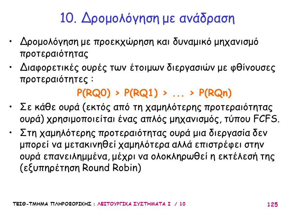 10. Δρομολόγηση με ανάδραση