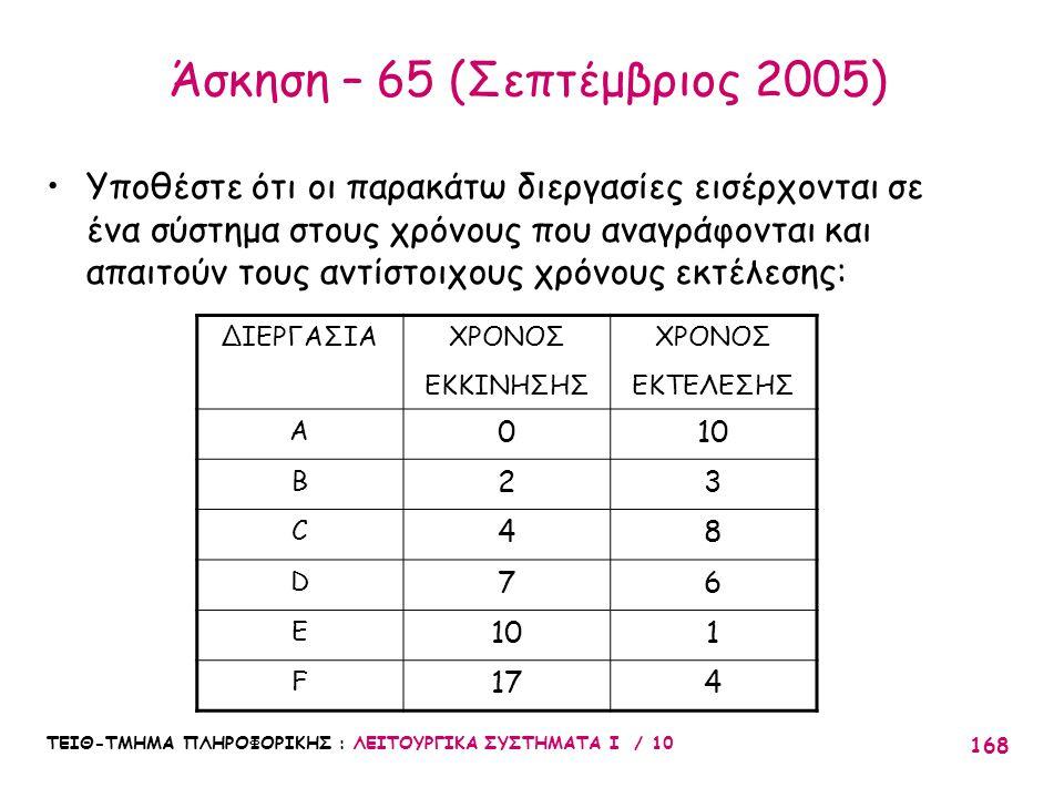 Άσκηση – 65 (Σεπτέμβριος 2005)