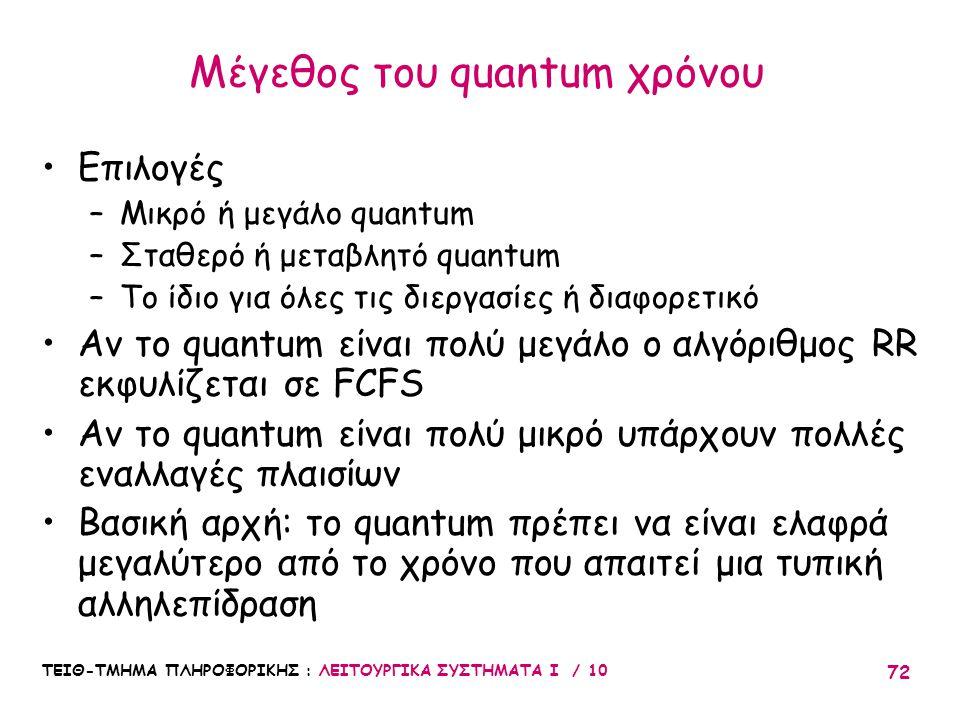 Μέγεθος του quantum χρόνου
