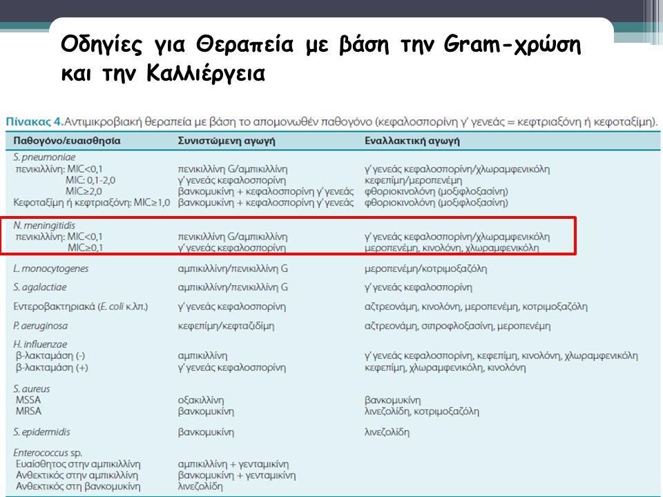 Οδηγίες για Θεραπεία με βάση την Gram-χρώση και την Καλλιέργεια