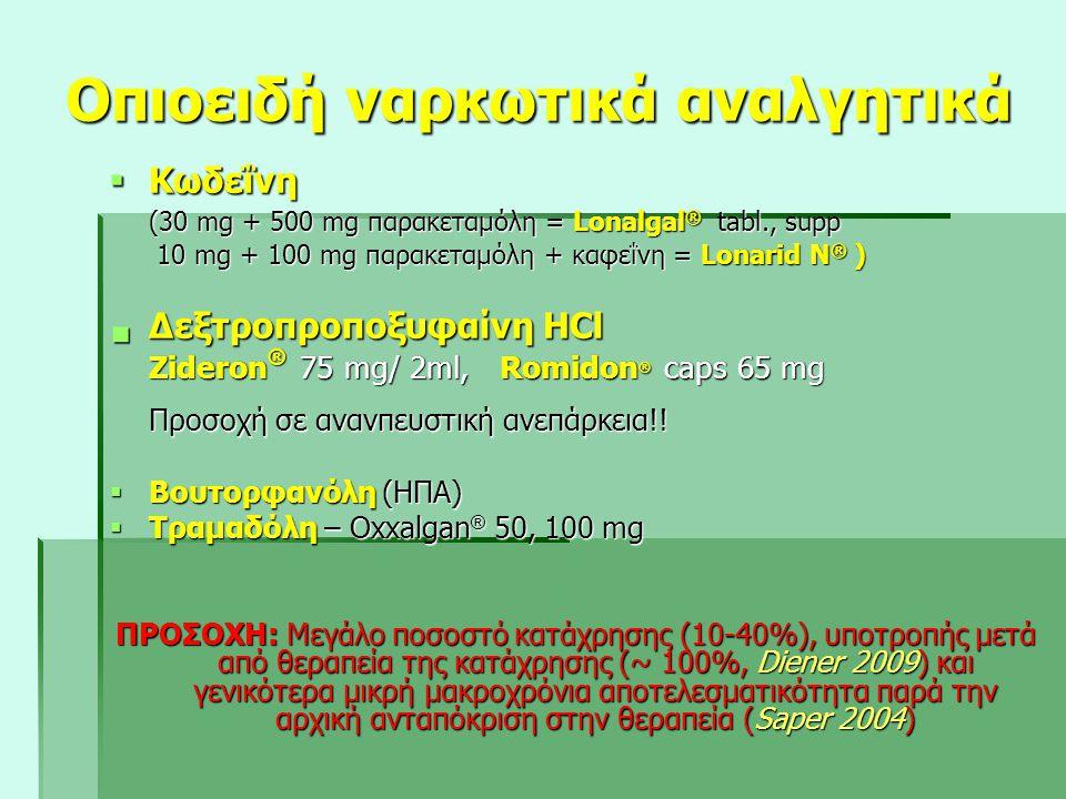 Οπιοειδή ναρκωτικά αναλγητικά
