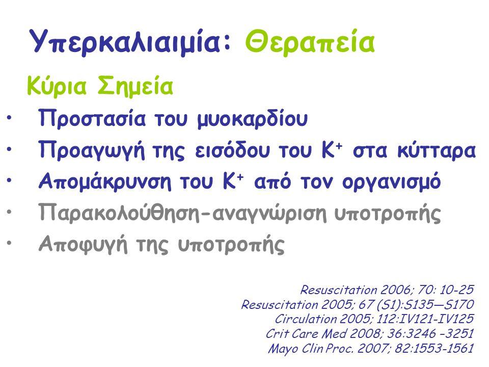 Υπερκαλιαιμία: Θεραπεία