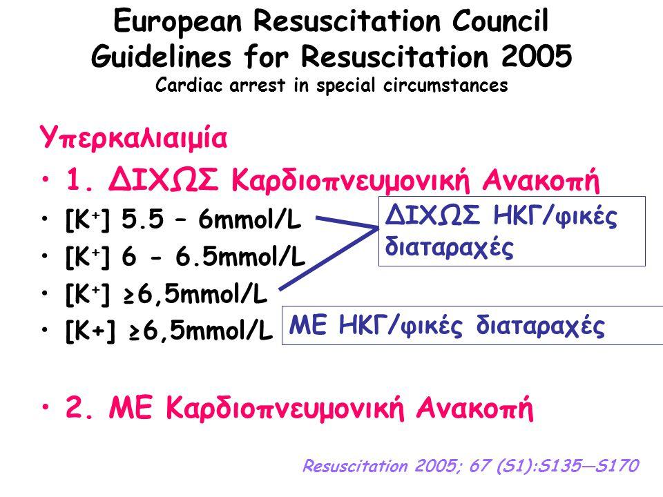 1. ΔΙΧΩΣ Καρδιοπνευμονική Ανακοπή