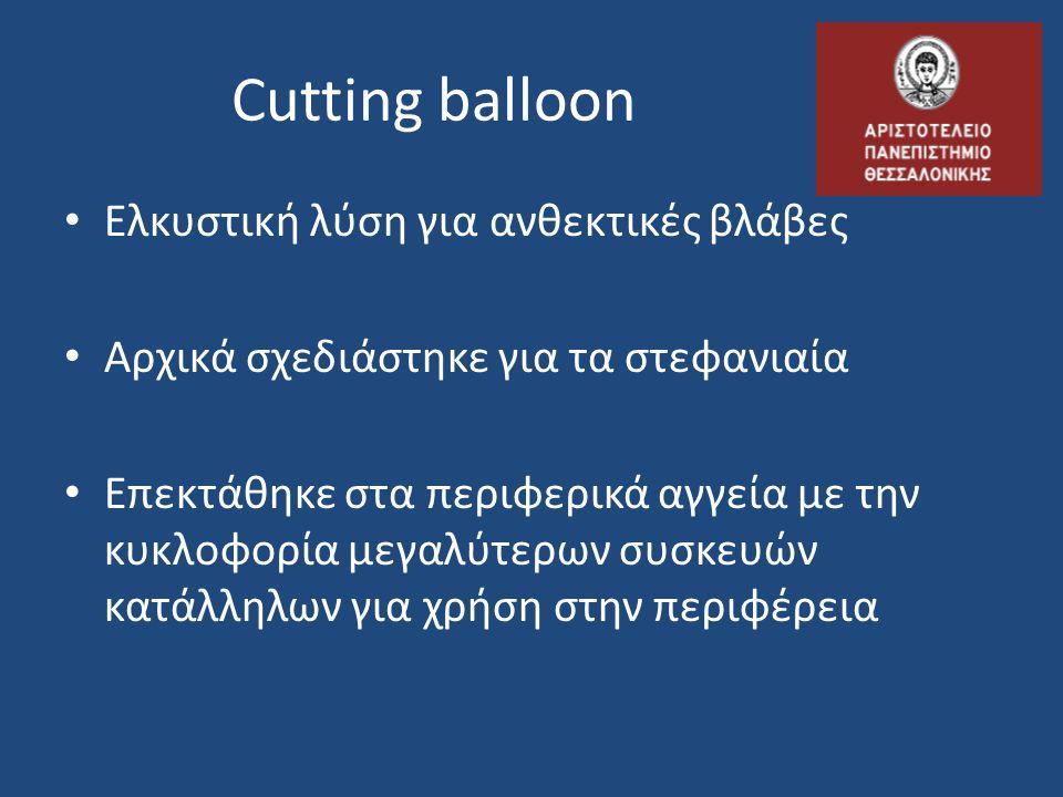 Cutting balloon Ελκυστική λύση για ανθεκτικές βλάβες