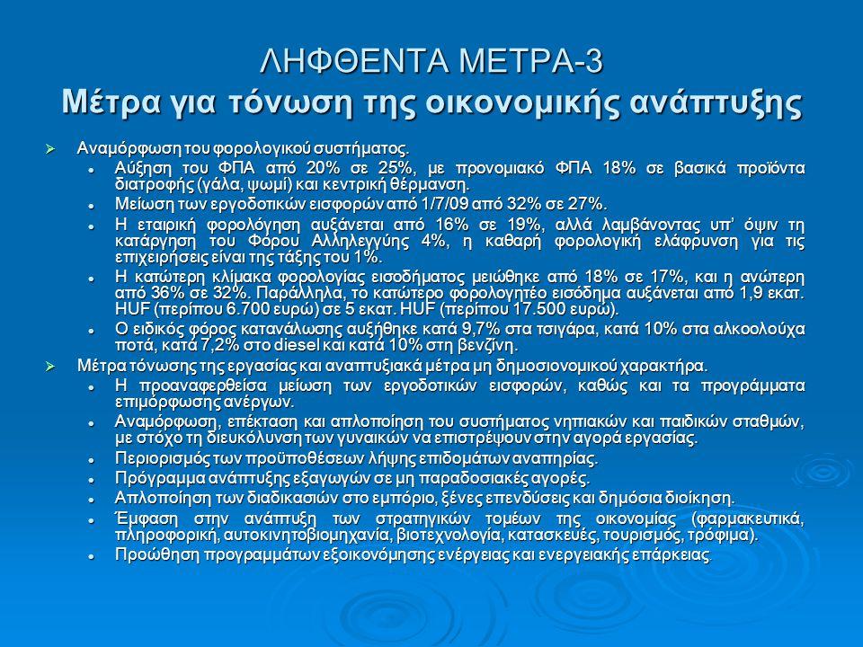 ΛΗΦΘΕΝΤΑ ΜΕΤΡΑ-3 Μέτρα για τόνωση της οικονομικής ανάπτυξης