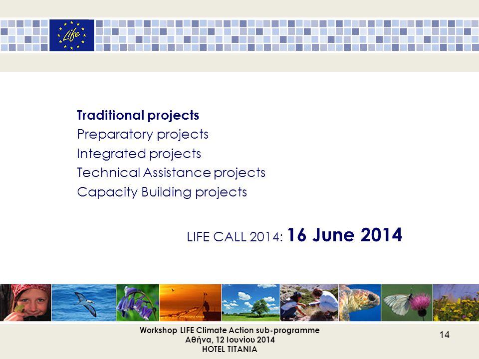 Workshop LIFE Climate Action sub-programme