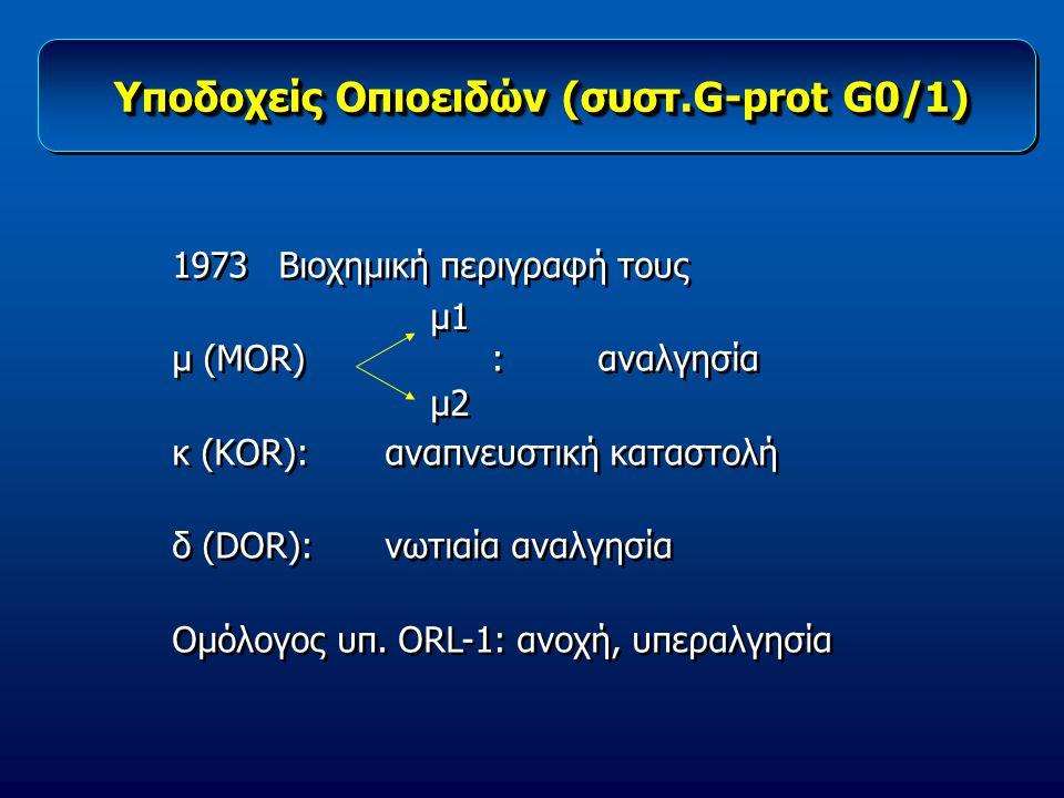 Υποδοχείς Οπιοειδών (συστ.G-prοt G0/1)