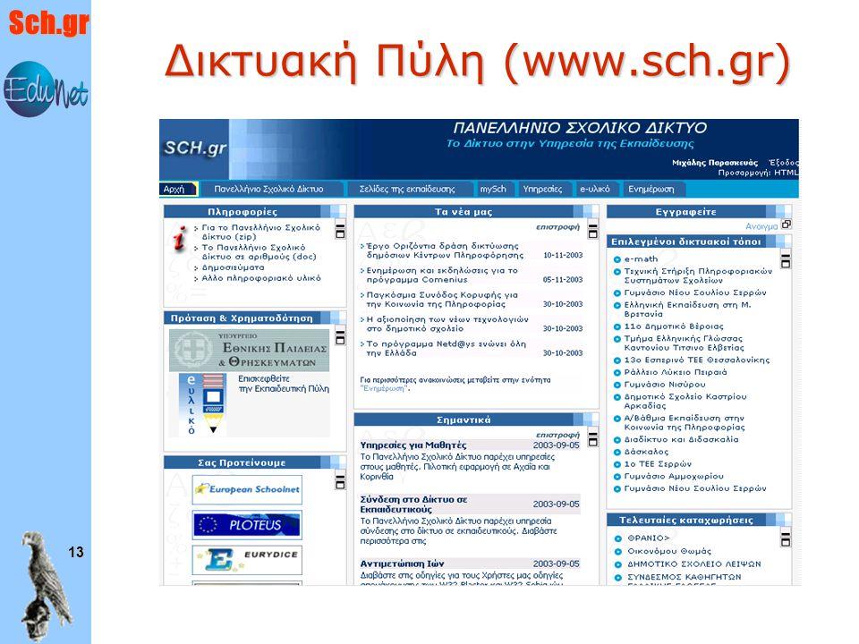 Δικτυακή Πύλη (www.sch.gr)