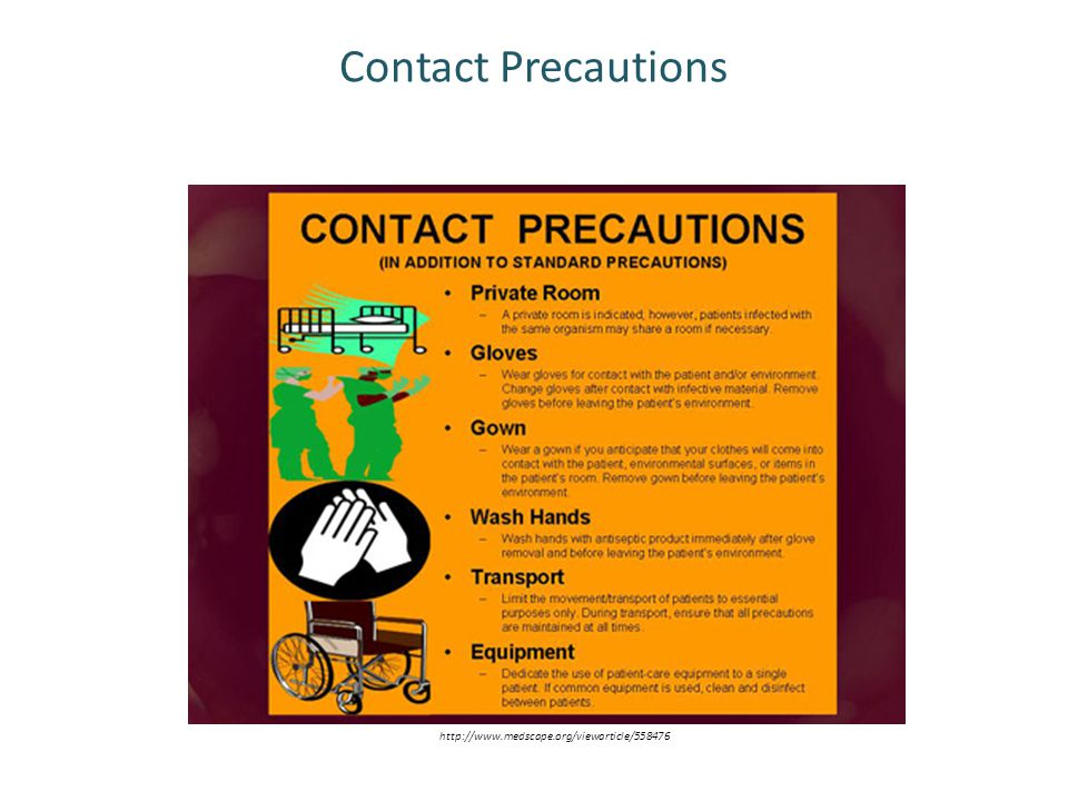 Contact Precautions http://www.medscape.org/viewarticle/558476