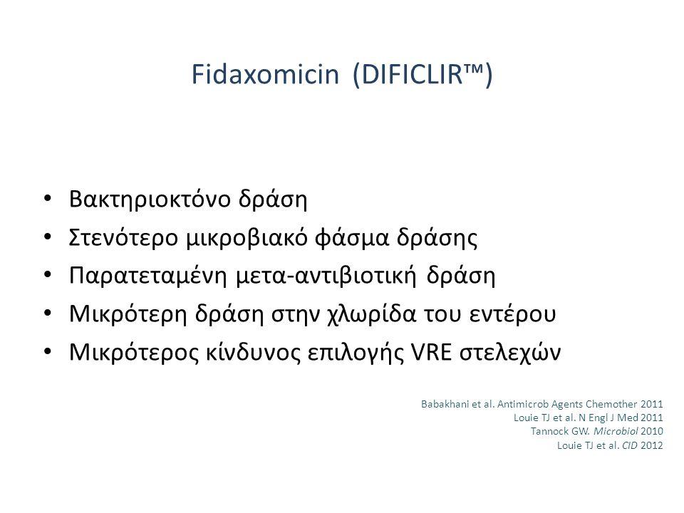 Fidaxomicin (DIFICLIR™)