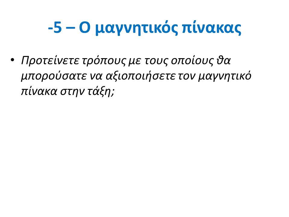 -5 – Ο μαγνητικός πίνακας